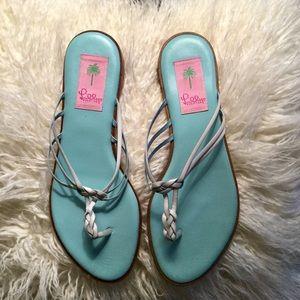 Lilly Pulitzer flat Sandals